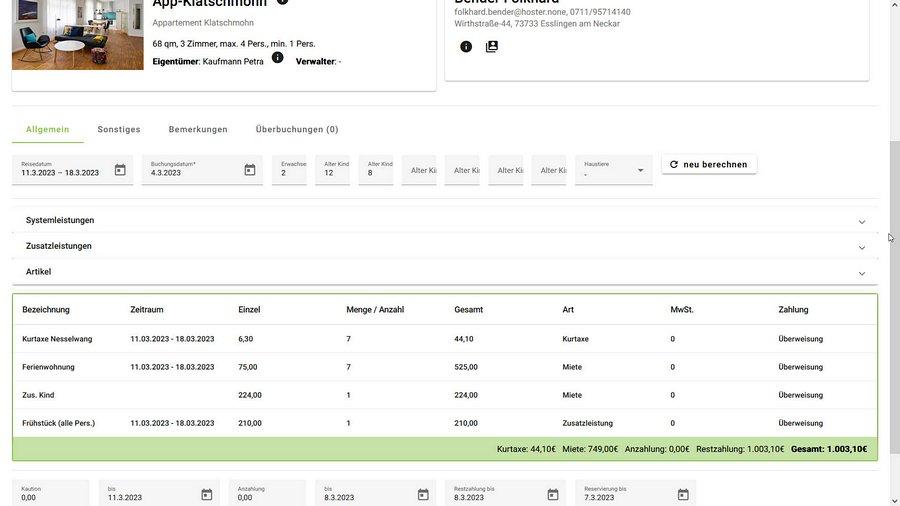 Angebot Und Buchungsbestätigung Hotelsoftware